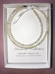 pearl necklace box images Pearl jewelry for little girls communion flower girl christening JPG