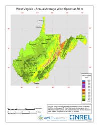 West Virginia vegetaion images Windexchange west virginia 80 meter wind resource map jpg