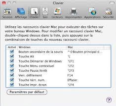 raccourci bureau mac connexion bureau à distance pour mac réglages du mac