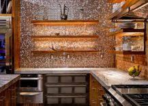copper backsplash tiles for kitchen 20 copper backsplash ideas that add glitter and glam to your kitchen