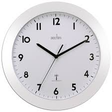 cadiz white radio controlled wall clock 25 5cm