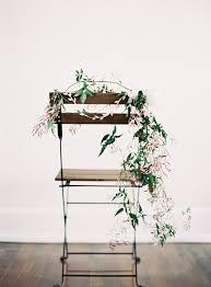 diy chair wedding garland once wed