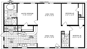 Floor Plans For Small Houses With 3 Bedrooms Small Mobile Homes Small Home Floor Plans