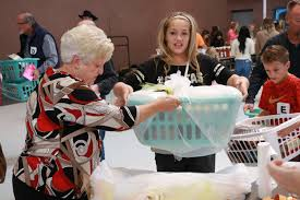 brigade volunteers 260 local families with baskets of