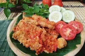 makanan enak berbau keju resep ayam geprek keju mozarella spesial enak dan mudah resep