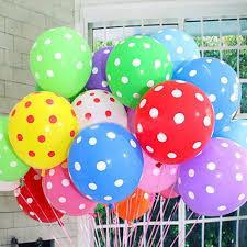 birthday delivery balloons 12 retro polka dot helium party birthday wedding balloons