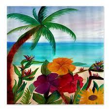 Tropical Decor Tropical Shower Curtain Beach U2013 Home Design And Decor