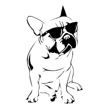 design clipart french bulldog design svg dxf eps png cdr ai by vectordesign on zibbet