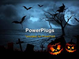 the halloween tree background powerpoint template halloween dark scenery with trees full