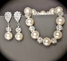 pearl bracelet set images 57 pearl earring and bracelet set white pearl and swarovski jpg