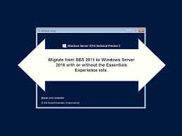 how to migrate from sbs 2011 to windows server 2016 essentials