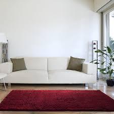amazon com lavish home high pile shag rug carpet burgundy