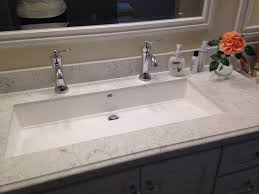 trough sink two faucets undermount trough bathroom sink with two faucets sinks awesome