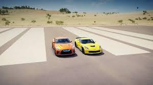nissan gtr vs corvette z06 forza horizon 3 2017 nissan gt r vs chevrolet corvette z06 drag