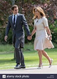 roger federer and his wife mirka arrive ahead of the wedding of