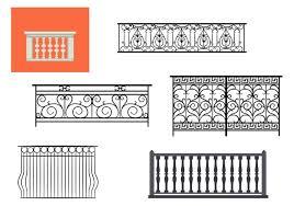 types of balcony railing vectors download free vector art stock