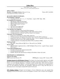 java resume 15 java developer resume sle and resume template