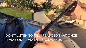 nissan leaf wiper blades removing and installing a wiper refill on a 2014 nisan versa note