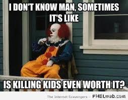 Funny Clown Memes - 31 it clown funny meme pmslweb