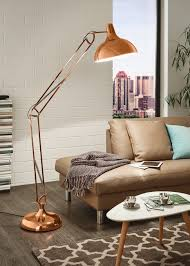 living room mid century tension pole lamp interior inspiration
