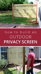 Privacy Screens How To Build An Outdoor Privacy Screen Outdoor Privacy Play