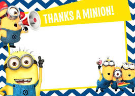 minions birthday party amazing despicable me birthday invitations or the minions thank