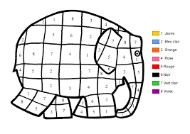 coloriage magique d u0027éléphant