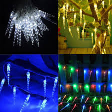 snowing icicle outdoor lights snowing icicle christmas ice drop falling 40 led fairy lights