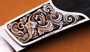 gold inlay engraving engravers steve lindsay