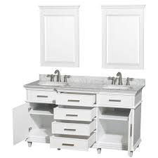 18 Deep Bathroom Vanity by Ackley 60 Inch White Finish Double Sink Bathroom Vanity Cabinet