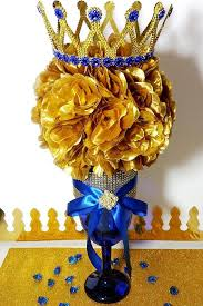 a new prince baby shower check out our new prince baby shower gold flower royal blue