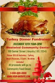 turkey dinner to go turkey dinner fundraiser template postermywall