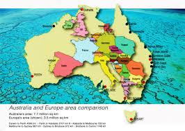 Australian Outback Map Australia And Europe Area Comparison Australia