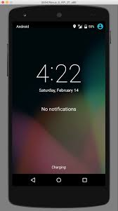 android emulator how to display the lock screen on an android device emulator