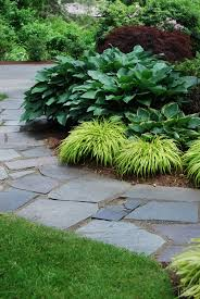 carey ezell landscape design bluestone walkway with weeping