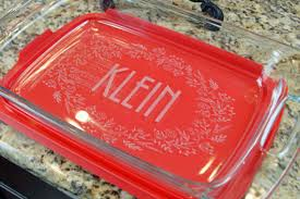 engraved dishes custom engraved baking dish with lid personalized casserole