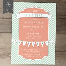 baby shower invitations mint coral chevron diy printable