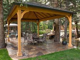 Patio Gazebo Outdoor Patio Garden Gazebo With Flagstone Pavers And Patio