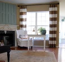 Brown And White Striped Curtains More Striped Drapes Interior Design Deco And Details