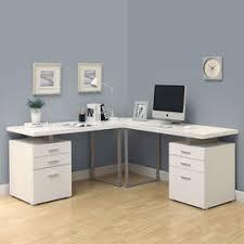 L Shaped Metal Desk Shop Desks At Lowes