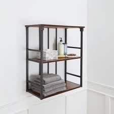 Wall Shelves For Bathroom Mixed Material Bathroom Collection 3 Tier Wall Shelf Free