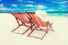 beach chairs retro style stock photo image of paper 40957838