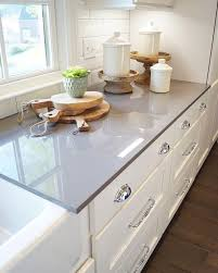 Kitchens With White Cabinets And Black Countertops by Best 25 Grey Countertops Ideas Only On Pinterest Gray Kitchen