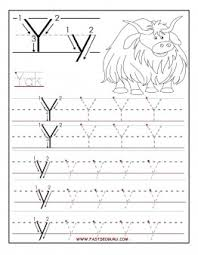 free printable letter y tracing worksheets for preschool free