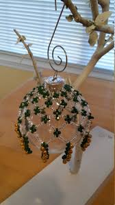 decorative christmas beaded ornament cover ornament drape