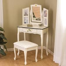 Vintage Style Vanity Table Corner Vanity Table Set With Mirror For Saving Space Interior