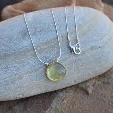 sterling silver quartz necklace images Lemon quartz stone pendant necklace on sterling silver chain jpg