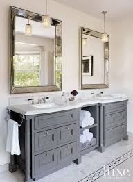 Traditional Bathroom Vanities In The Master Bathroom Rosenfeld Hung A Pair Of Midcentury Nickel