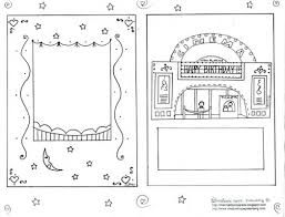 printable birthday card color doubles frame 564578 coloring