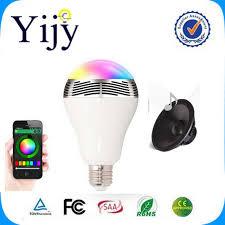 bluetooth music light bulb yijy phone control colorful music led light bulb bluetooth speaker 2
